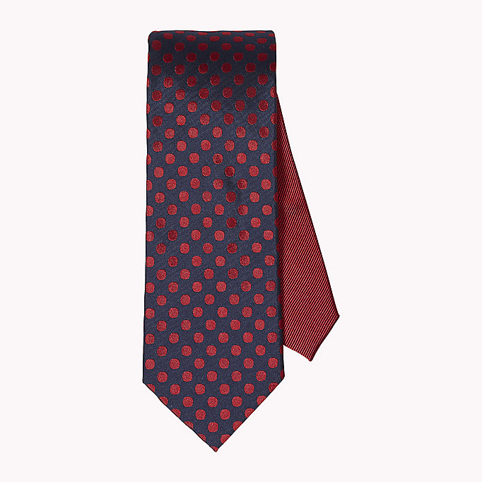 TOMMY HILFIGER Dotted Silk Tie - 010 - TOMMY HILFIGER Clothing - main image