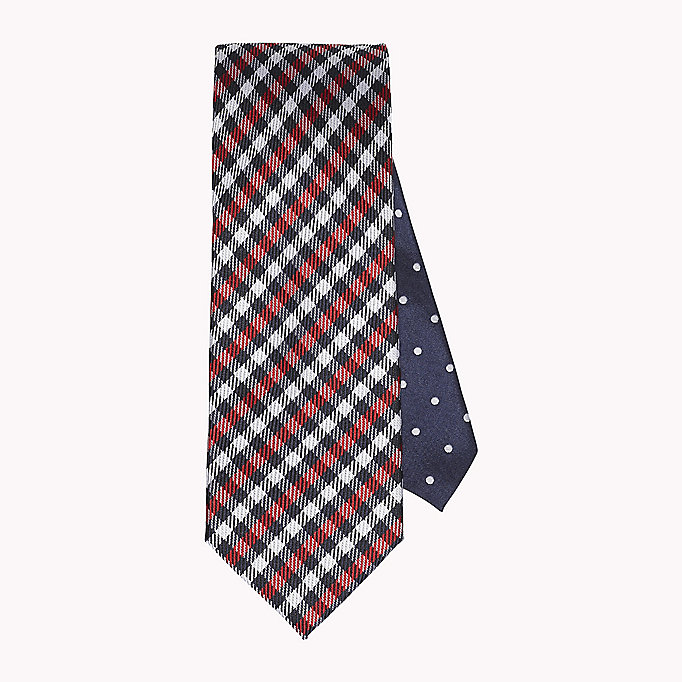 TOMMY HILFIGER Checkered Silk Tie - 415 - TOMMY HILFIGER Men - main image