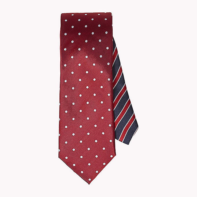 TOMMY HILFIGER Dotted Silk Tie - 020 - TOMMY HILFIGER Clothing - main image