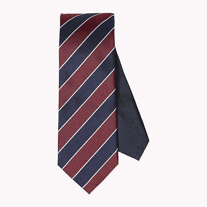 TOMMY HILFIGER Striped Silk Tie - 415 - TOMMY HILFIGER Men - main image