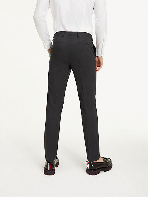 TOMMY HILFIGER Slim Fit Wool Suit Trousers - 024 - TOMMY HILFIGER Basics - detail image 1