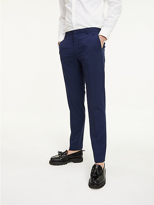 TOMMY HILFIGER Slim Fit Wool Suit Trousers - 420 - TOMMY HILFIGER Suit Separates - detail image 1