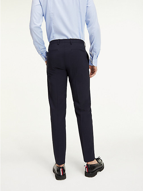 TOMMY HILFIGER Slim Fit Wool Suit Trousers - 427 - TOMMY HILFIGER What to Wear - detail image 1