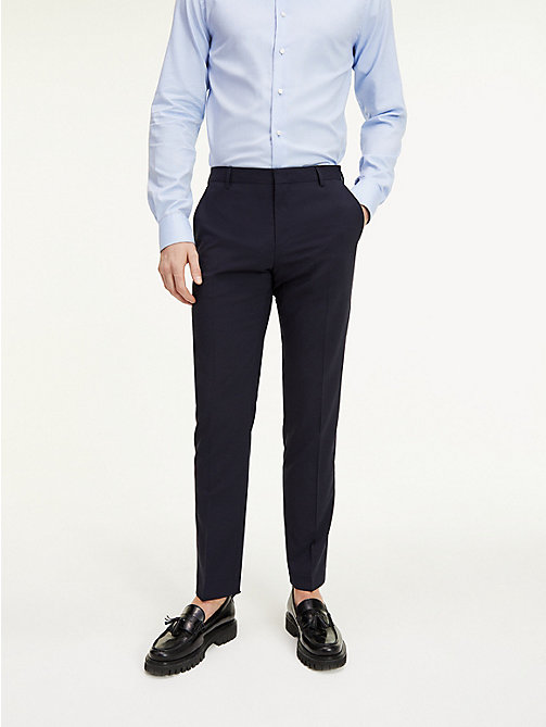 TOMMY HILFIGER Slim Fit Wool Suit Trousers - 427 - TOMMY HILFIGER Suit Separates - main image