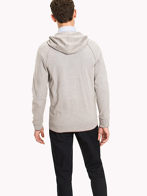 TOMMY HILFIGER Luxury Wool Hoodie - GRAY VIOLET HEATHER - TOMMY HILFIGER Jumpers - detail image 1
