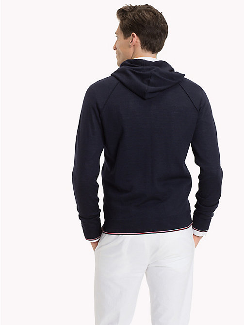 TOMMY HILFIGER Luxury Wool Hoodie - NAVY BLAZER - TOMMY HILFIGER Jumpers - detail image 1