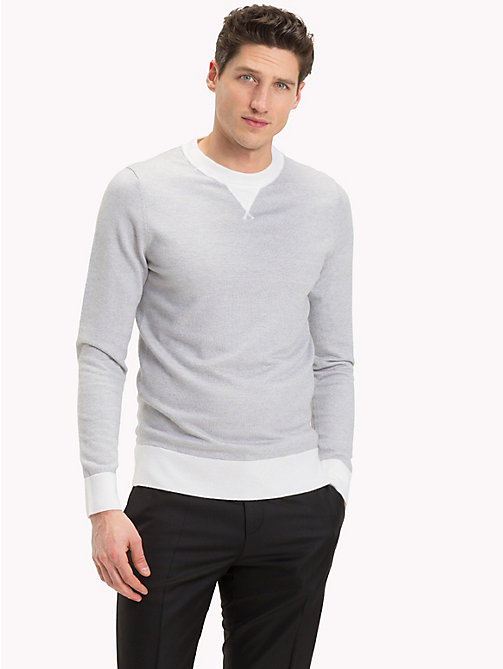 TOMMY HILFIGER Cotton Wool Mix Jumper - GRAY VIOLET HEATHER - TOMMY HILFIGER Jumpers - main image