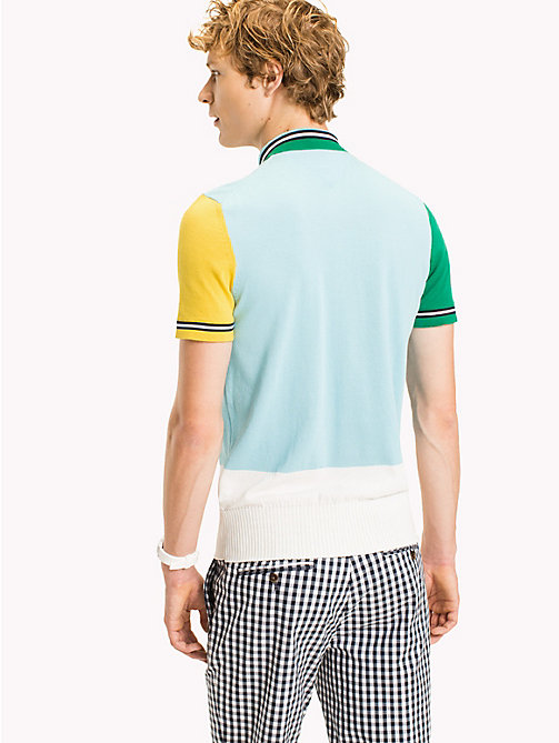 TOMMY HILFIGER Colour-Blocked Polo - CLEARWATER - TOMMY HILFIGER Polo Shirts - detail image 1