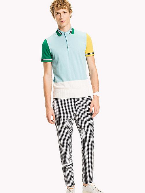 TOMMY HILFIGER Colour-Blocked Polo - CLEARWATER - TOMMY HILFIGER Polo Shirts - main image