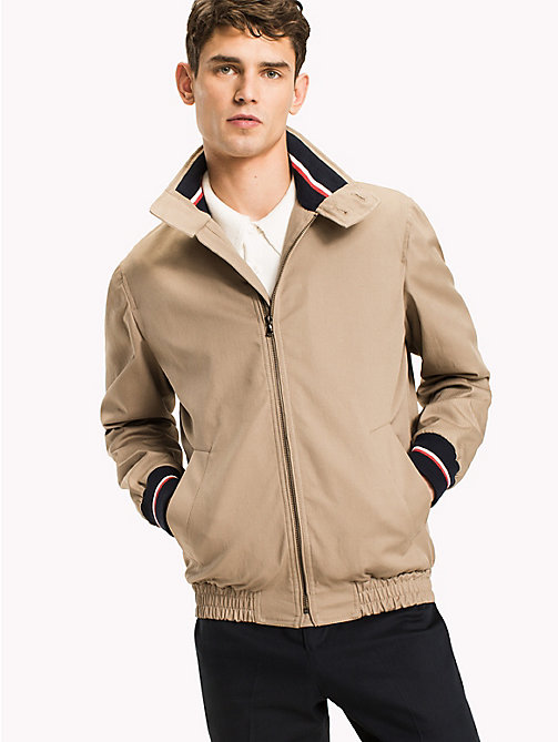 TOMMY HILFIGER Button Collar Cotton Jacket - 205 - TOMMY HILFIGER Jackets - main image
