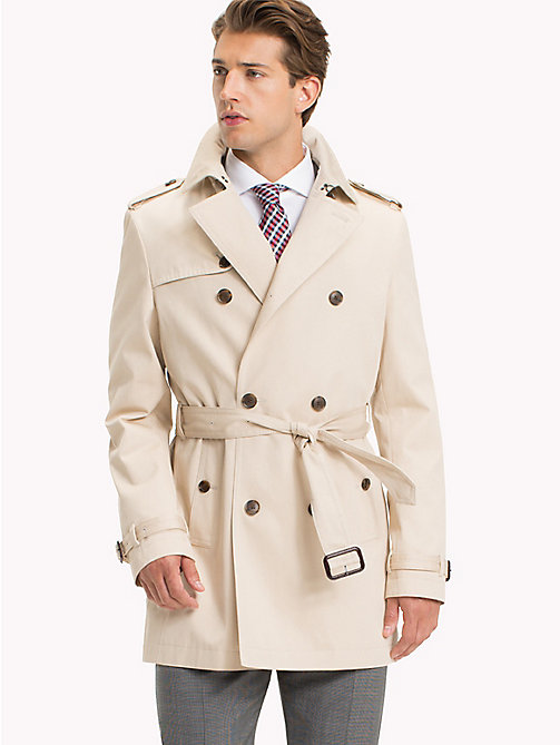 TOMMY HILFIGER Double Breasted Trench Coat - 201 - TOMMY HILFIGER Men - main image