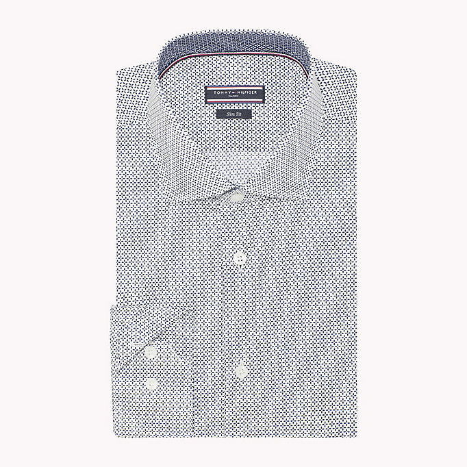 TOMMY HILFIGER Print Slim Fit Shirt - 427 - TOMMY HILFIGER Clothing - detail image 1