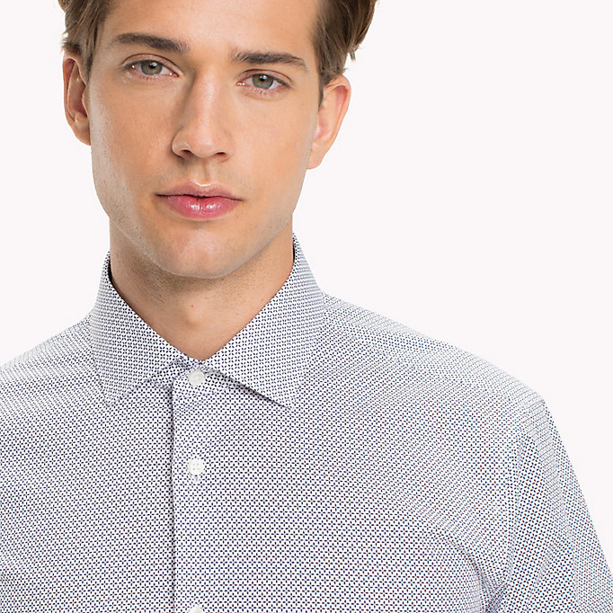TOMMY HILFIGER Print Slim Fit Shirt - 427 - TOMMY HILFIGER Clothing - detail image 3