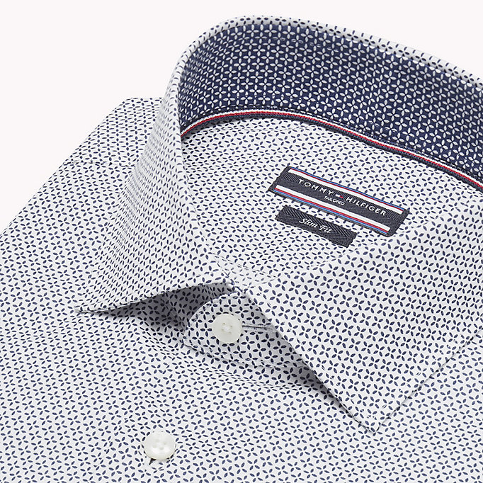TOMMY HILFIGER Print Slim Fit Shirt - 427 - TOMMY HILFIGER Clothing - detail image 4