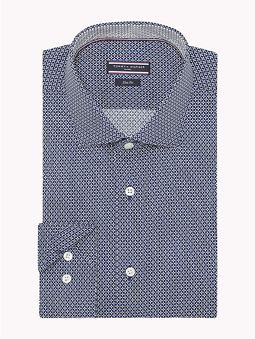 TOMMY HILFIGER Slim Fit Shirt mit Print - 427 - TOMMY HILFIGER Businesshemden - main image 1