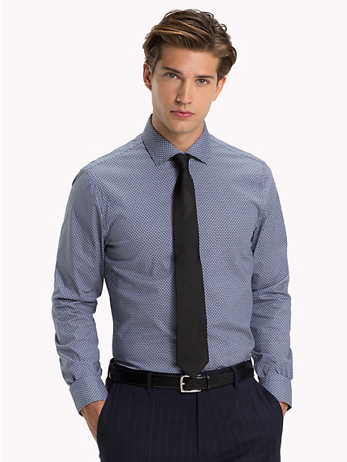 TOMMY HILFIGER Slim Fit Shirt mit Print - 427 - TOMMY HILFIGER Businesshemden - main image