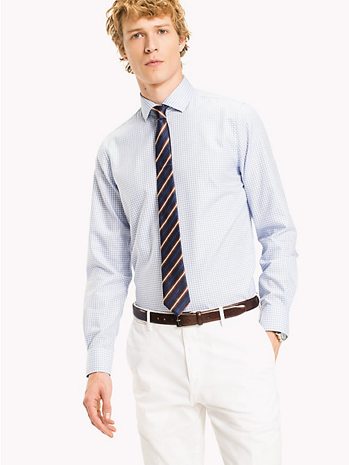 TOMMY HILFIGER Check Slim Fit Shirt - 410 - TOMMY HILFIGER Formal Shirts - main image
