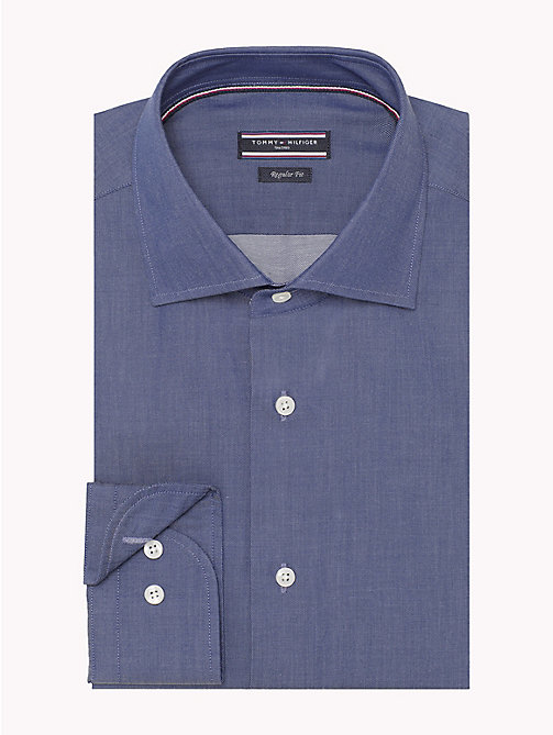 TOMMY HILFIGER Cotton Twill Fitted Shirt - 421 - TOMMY HILFIGER Formal Shirts - detail image 1