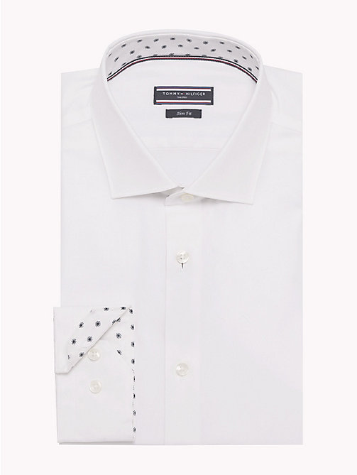 TOMMY HILFIGER Print Lining Slim Fit Shirt - 100 - TOMMY HILFIGER Formal Shirts - main image