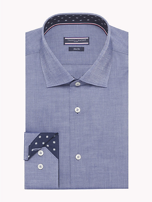 TOMMY HILFIGER Print Lining Slim Fit Shirt - 424 - TOMMY HILFIGER Formal Shirts - main image