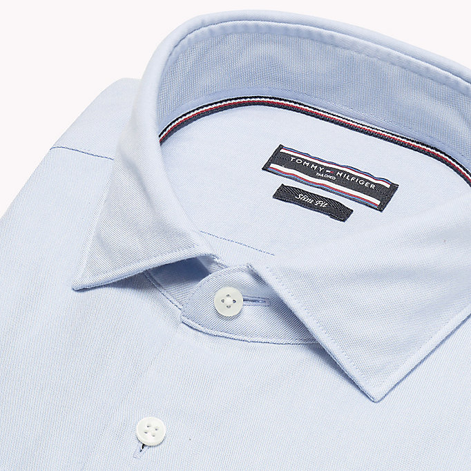 TOMMY HILFIGER Washed Slim Fit Oxford Shirt - 100 - TOMMY HILFIGER Men - detail image 4