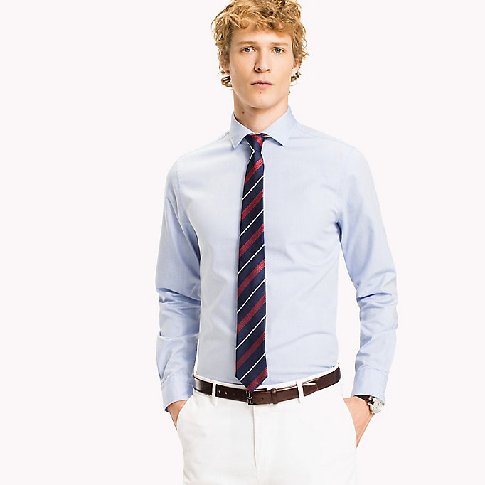 TOMMY HILFIGER Washed Slim Fit Oxford Shirt - 100 - TOMMY HILFIGER Men - main image