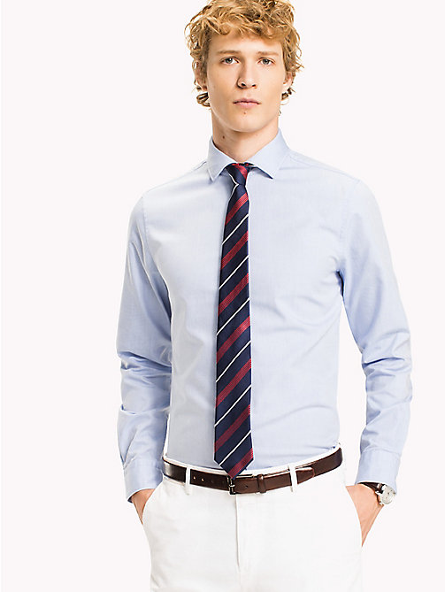 TOMMY HILFIGER Slim Fit Oxfordhemd im Washed-Look - 411 -  Businesshemden - main image