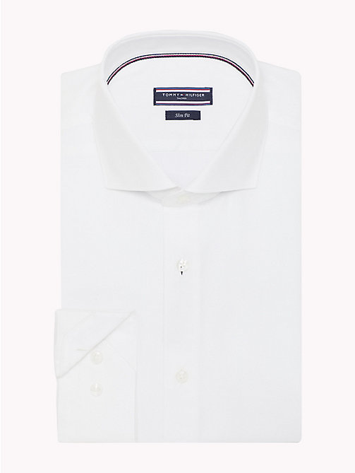TOMMY HILFIGER Cotton Twill Slim Fit Shirt - 100 - TOMMY HILFIGER Formal Shirts - detail image 1