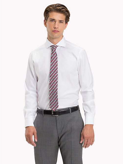 TOMMY HILFIGER Cotton Twill Slim Fit Shirt - 100 - TOMMY HILFIGER Formal Shirts - main image