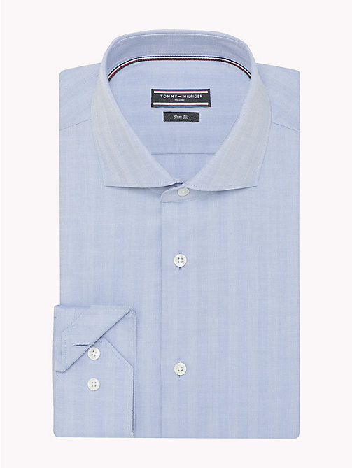 TOMMY HILFIGER Cotton Twill Slim Fit Shirt - 411 - TOMMY HILFIGER Formal Shirts - detail image 1