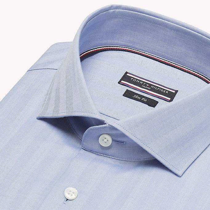 TOMMY HILFIGER Cotton Twill Slim Fit Shirt - 100 - TOMMY HILFIGER Clothing - detail image 4