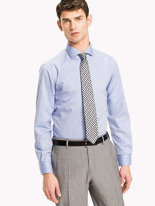 TOMMY HILFIGER Cotton Twill Slim Fit Shirt - 411 - TOMMY HILFIGER Formal Shirts - main image