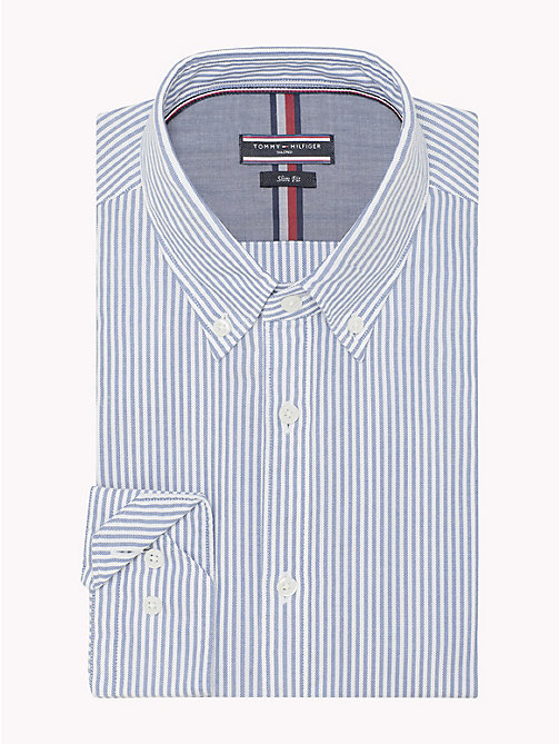 TOMMY HILFIGER Gestreiftes Washed Slim Fit Hemd - 417 - TOMMY HILFIGER Anzüge & Tailored - main image 1