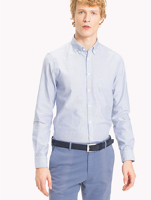 TOMMY HILFIGER Gestreiftes Washed Slim Fit Hemd - 417 - TOMMY HILFIGER Anzüge & Tailored - main image