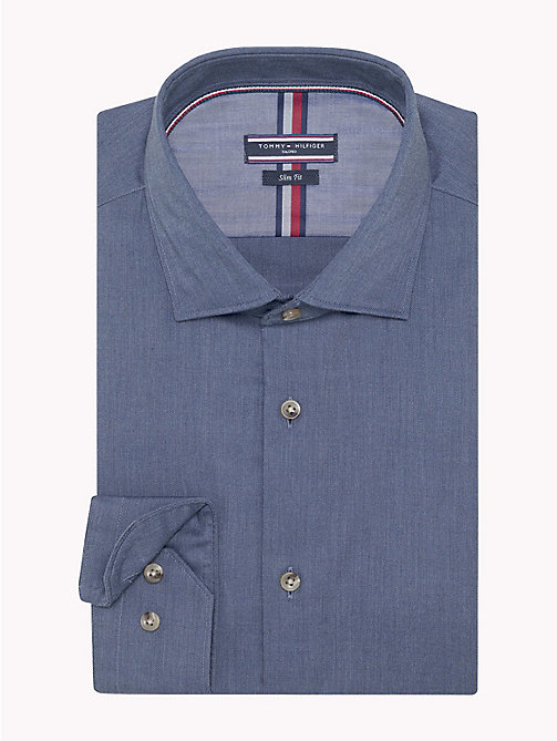 TOMMY HILFIGER Cotton Slim Fit Dobby Shirt - 421 - TOMMY HILFIGER Suits & Tailored - detail image 1