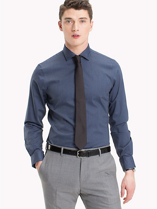 TOMMY HILFIGER Cotton Slim Fit Dobby Shirt - 421 - TOMMY HILFIGER Suits & Tailored - main image