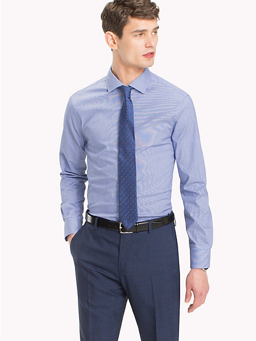 TOMMY HILFIGER Check Print Slim Fit Shirt - 413 - TOMMY HILFIGER Formal Shirts - main image