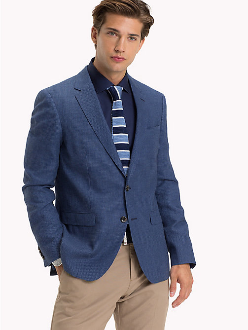 TOMMY HILFIGER Slim Fit Gingham Check Blazer - 420 - TOMMY HILFIGER Suits & Tailored - main image
