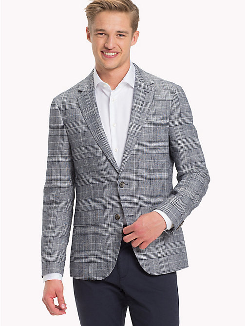 TOMMY HILFIGER Check Fitted Suit Blazer - 417 - TOMMY HILFIGER Blazers - main image
