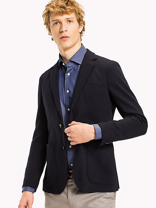 TOMMY HILFIGER Virgin Wool Tailored Blazer - 429 - TOMMY HILFIGER Blazers - main image