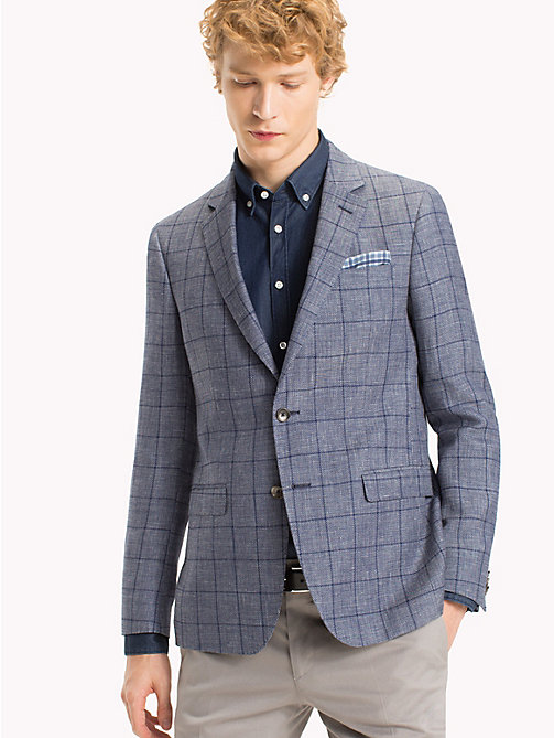 TOMMY HILFIGER Slim Fit Windowpane Check Blazer - 418 - TOMMY HILFIGER Blazers - main image