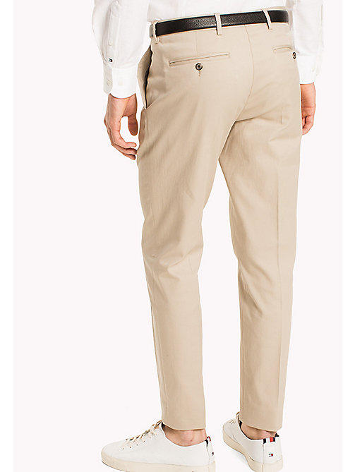TOMMY HILFIGER Cotton Slim Fit Trousers - 202 - TOMMY HILFIGER Trousers - detail image 1