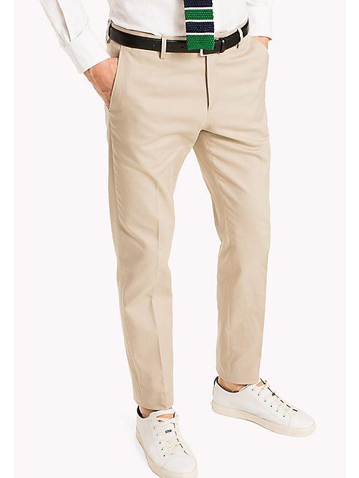 TOMMY HILFIGER Cotton Slim Fit Trousers - 202 - TOMMY HILFIGER What to Wear - main image
