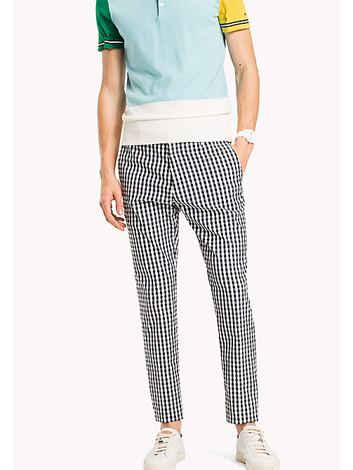 TOMMY HILFIGER Check Slim Fit Trousers - 425 - TOMMY HILFIGER NEW IN - main image