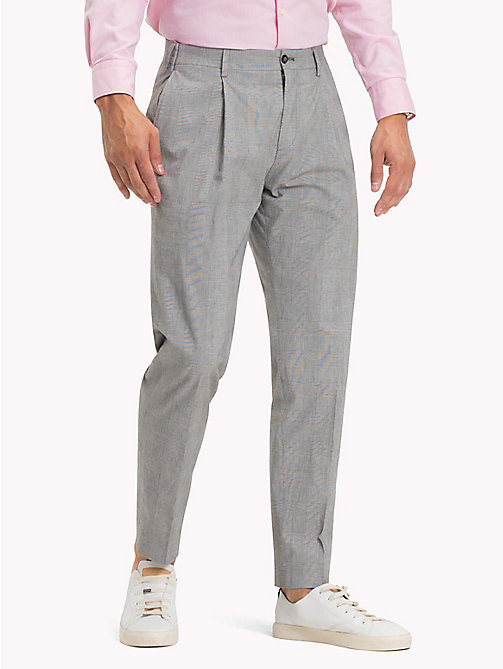 TOMMY HILFIGER Check Slim Fit Trousers - 010 - TOMMY HILFIGER Trousers - main image