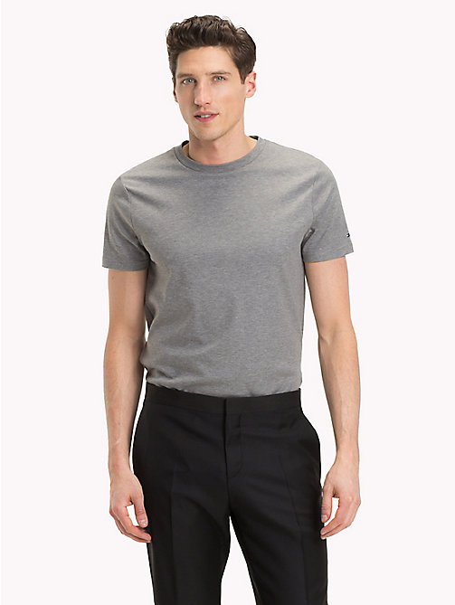 TOMMY HILFIGER Short Sleeved T-shirt - SILVER FOG HEATHER - TOMMY HILFIGER NEW IN - main image