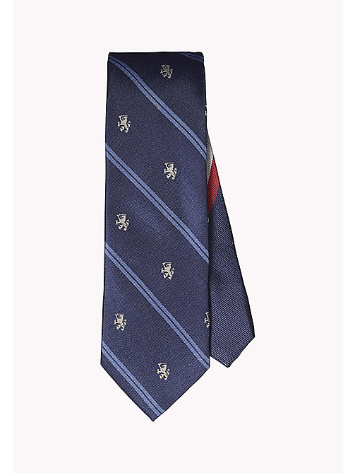 TOMMY HILFIGER Silk Crest Stripe Tie - 425 - TOMMY HILFIGER What to Wear - main image