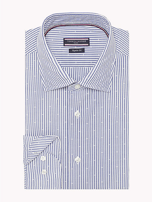 TOMMY HILFIGER Washed Stripe Cotton Shirt - 426 - TOMMY HILFIGER Formal Shirts - detail image 1