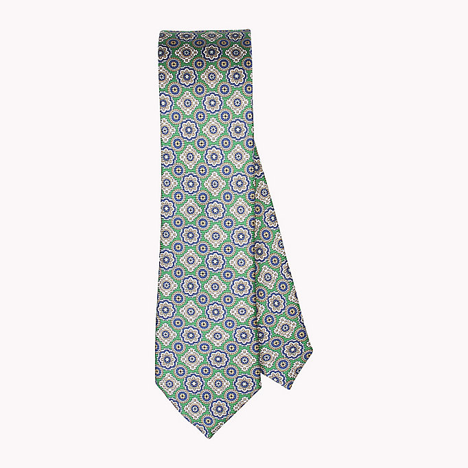 TOMMY HILFIGER Floral Silk Tie - 428 - TOMMY HILFIGER Clothing - main image