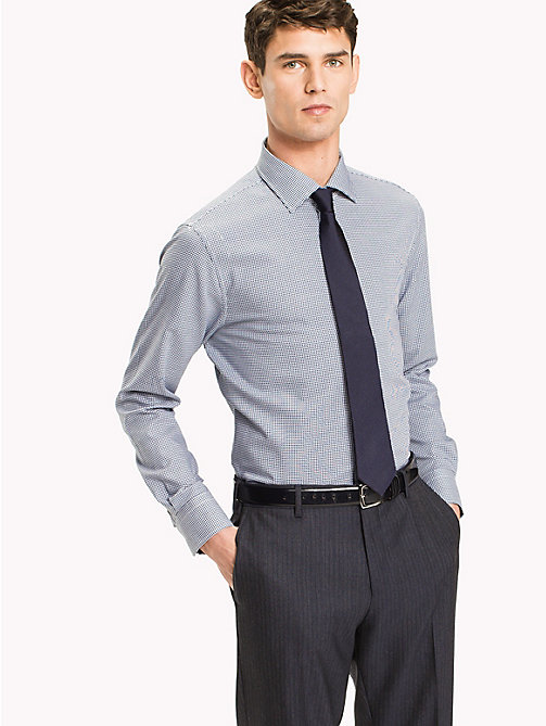 TOMMY HILFIGER Classic Regular Fit Dobby Shirt - 419 - TOMMY HILFIGER Suits & Tailored - main image